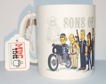 Sons of Anarchy - Simpsons - Motorbike - MC - Mug Cup Funny