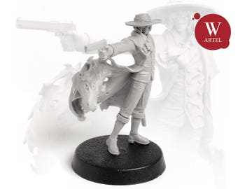 """28mm wargaming and collectible miniature, Gunfigther by """"W"""" Artel"""