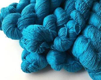 Reclaimed Lace Yarn - Silk/Cashmere - Tropical Blue