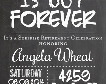 Printable SURPRISE Teacher Retirement Party Invitation