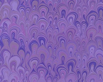Hand Marbled Paper 19x24 (Violet Bouquet)