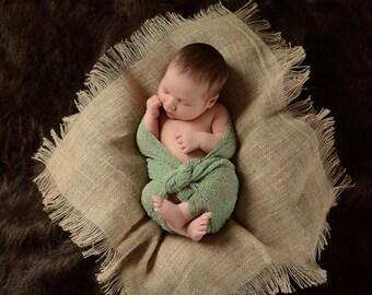 Burlap Baby Blanket Newborn Photo Prop Newborn Baby Blanket Light Brown Burlap Layering Blanket Burlap Fringe Blanket Baby Girl Baby Boy