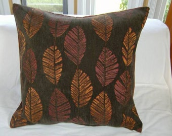 24 x 24 Autumn leaves Pillow cover