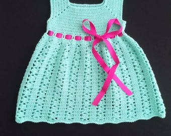 Beautiful crochet baby dress