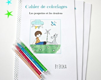 Specification of coloring, the poupettes and the soft toys