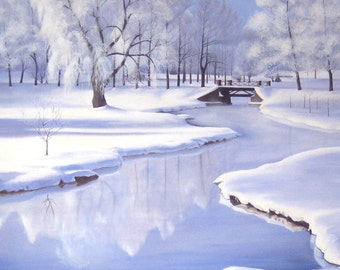 11 x11 Upstate Winter Giclee Print