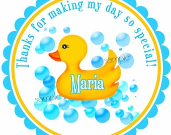 Rubber Ducky Stickers, Rubber duck, Baby Shower stickers, Rubber Ducky Shower, rubber ducky Favor, Baby Shower, Baby, Birthday, set of 12