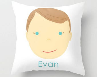 Custom Portrait Pillow : BOY - #Personalized #Pillow