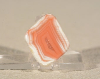 Ring Cabochon Queensland Agate Creek Agate. Handcrafted USA. Natural Gemstone.