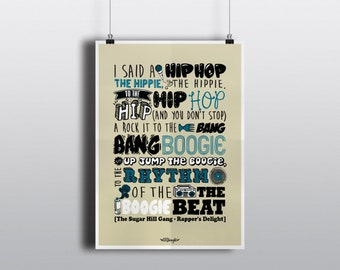 """Poster collection """"lyrics"""" The Sugar Hill Gang - Rapper's Delight"""