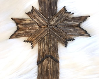 Matchstick Cross - Stained