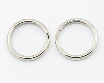 50 Pcs Split Rings 15 mm - Small Key Rings | Key Rings | Keyrings | Split Rings | 0306