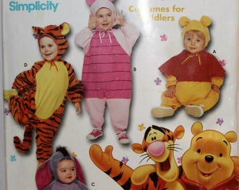 Winnie the Pooh Sewing Pattern - Tigger Pattern - Eeyour Pattern - Piglet  Pattern - Simplicity 9378  New - Uncut - Size Toddler 1/2 1 2 3 4
