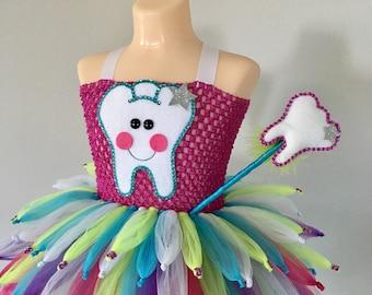 Tooth fairy costume/ fairy costume/ Tooth fairy tutu dress/ Fairy tutu/ tinker bell tutu/ Halloween costume/ tutu costume