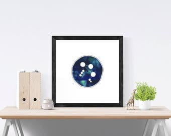 FRAMED Libra wall art | Libra zodiac art print | Libra star sign art | framed zodiac wall art | blue watercolor art | zodiac decor | Libra