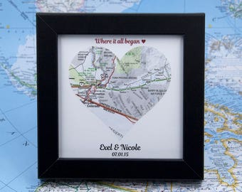 Unique Wedding Gift for Couple 1st Anniversary Gift Fiance Gift for Him Couples Gift Custom Map Where It All Began Newlywed Gift Atlas