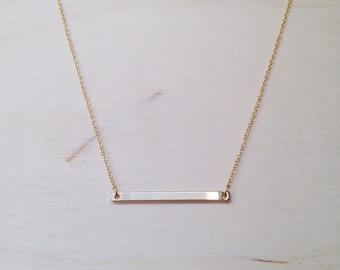 Skinny Bar Gold Necklace