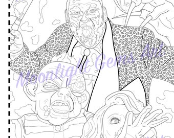 Braindead / Dead Alive • Colouring Page • Poster