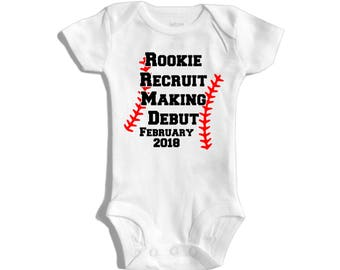 Baseball pregnancy announcement - Sports pregnancy announcement - Baseball reveal - Pregnancy announcement to grandparents - Sportsfan