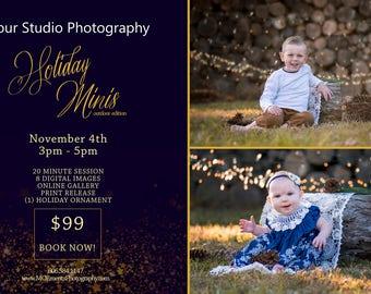 Christmas Photography Flyer - PSD - fully customizable - photography flyer - holiday photo flyer