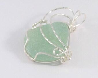 Seafoam Beach Glass Pendant