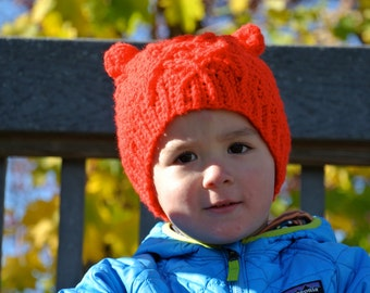 Little bear cable hat!
