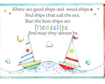 The best ships are FRIENDSHIPS. A fun inspiring peom for young and old