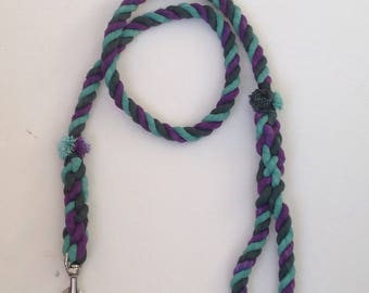 Soft cotton rope dog leash.