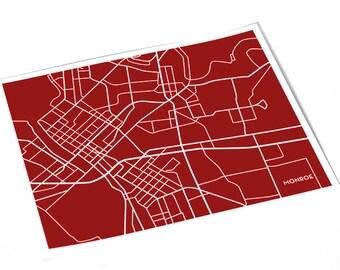 Monroe LA City Map Art Print / University of Louisiana Dorm Decor Grad Gift Poster / 8x10 Digital Print / Choose your Color