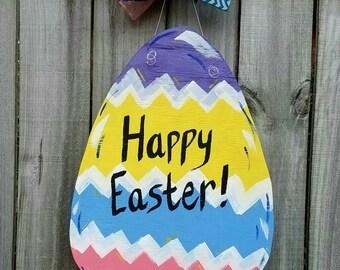 Easter door decor, easter door hanger, easter front door decor, spring door decor, spring door hanger, easter egg decor, spring front door