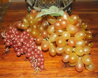 Vintage Assortment Rubber Grape Cluster Bunches Set of Four (4)