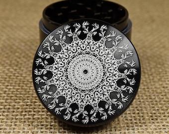 Bucks Mandala - Laser Engraved Herb Grinder
