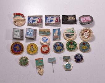 Set Soviet Badges Soviet Pins Communities Interest Clubs Soviet Union USSR Russian Badges Russian Pins USSR Badges USSR Pins