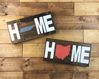 Pick State | Home State Wood Sign | State sign | State decor | State wall art | Home Sign | State on Wood | Moving gift | Farmhouse decor