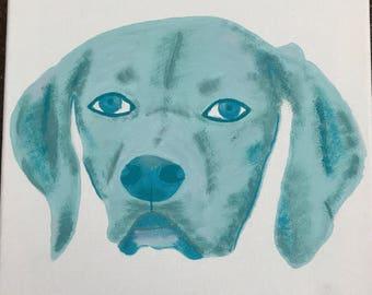 Colorful Custom Pet Portrait