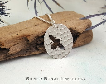 Silver Bumble Bee Necklace