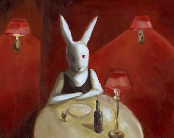 Rabbit Art- Stood Up