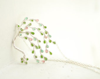 Tree of Life Necklace, Apple Tree Jewelry, Gift for Teacher
