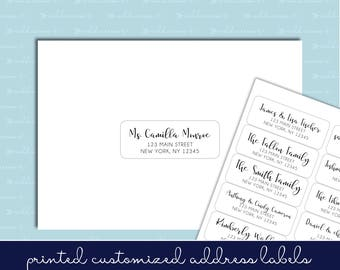 "Guest List Address Labels - 1""x2-5/8"" - Wedding Invitations - Individual and Different Names and Addresses on Each Label! READ INSTRUCTIONS"