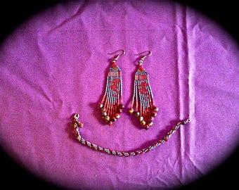 Sea Horse Earrings and Bracelet