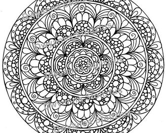 Package A - 5 Circle Coloring Pages PDF