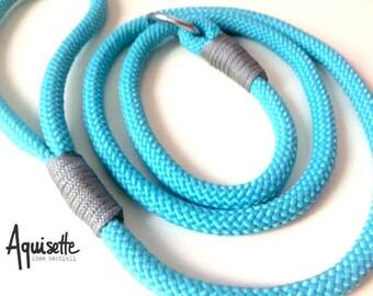 Blue Slide Leash/dog/retriever/CHOKE/grey blue/medium size