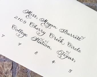 Custom Wedding Invitation Calligraphy  :  'Lola' style
