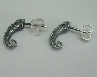 Tiny Tentacle Ear Studs, Sterling Silver