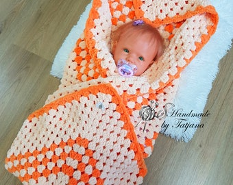 Baby Blanket Crochet, 88 x 88 cm