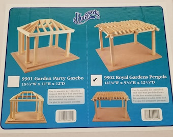Miniature Dollhouse Royal Gardens Pergola By Houseworks Miniature Dollhouse DIY Kit