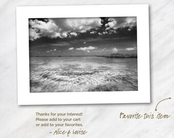 Wells Key flats, Saddlebunch Keys, Florida. Signed 12x18 Black & White Fine Art Photo Matted to 18x24