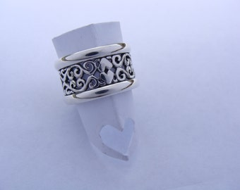 Two Hearts filligre Sterling Silver with Trims