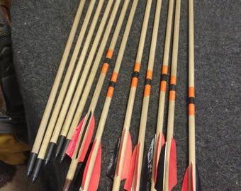 Handmade hardwood arrows