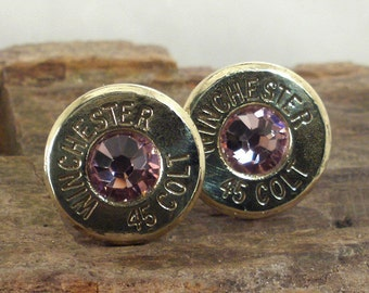 Colt 45 - Winchester - Bubblegum - Ultra Thin Bullet Earrings